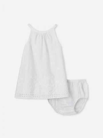 סט שמלה ותחתונים עם עיטורי רקמה / 0-18M של THE CHILDREN'S PLACE