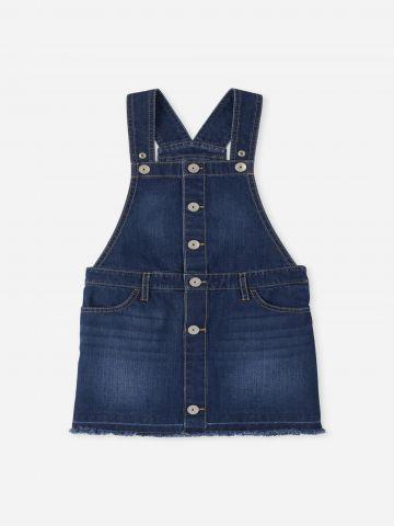 שמלת סרפן ג'ינס עם כיסים / בנות של THE CHILDREN'S PLACE