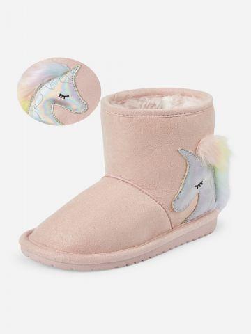מגפיים דמוי זמש יוניקורן / בייבי בנות של THE CHILDREN'S PLACE