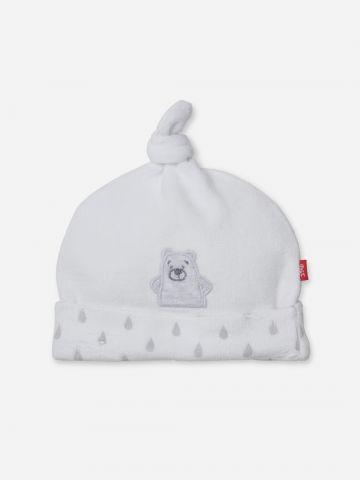כובע גרב עם פאץ' דובי / בייבי של SHILAV
