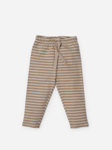 מכנסיים ארוכים בהדפס פסים / 3M-24M של SHILAV