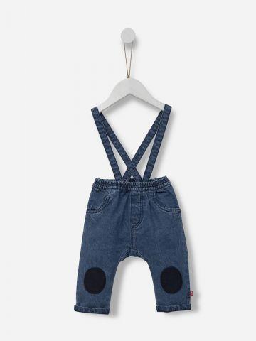 ג'ינס ארוך עם רצועות כתפיים / 0-18M של SHILAV