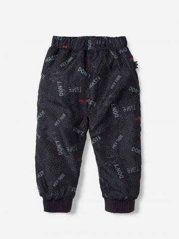מכנסיים טרנינג בהדפס כיתוב ונקודות / 3M-24M של SHILAV