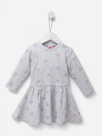 שמלה בהדפס לבבות מנצנצים / בנות של SHILAV